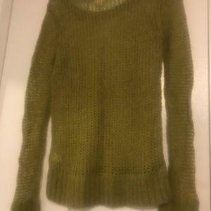Pea Green Aerie Mohair Blend Sweater